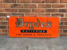 Original Drydex Batteries Hanging Perspex Sign