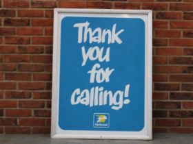 Framed National Thank You For Calling Aluminium Sign