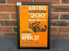 Framed Aintree International 200 Race Poster