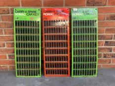 Three Romac Tin Key Boards