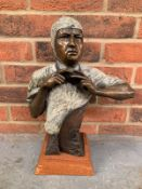 A Bronze By Larry Braun Of Alberto Ascari