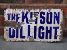 Original The Kitso Oil Light Double Sided Enamel Sign