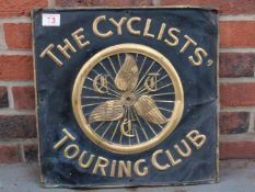 The Cyclists Touring Club Pressed Copper Sign