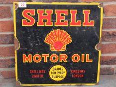 Shell Motor Oil Enamel Sign