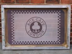 Ace Cafe London Framed Screen Printing Screen