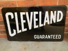 Cleveland Guaranteed Double Sided Enamel Sign