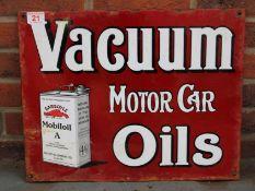 Vacuum Motor Car Oils Enamel Sign