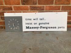 Original Massey-Ferguson Perspex Display Clock