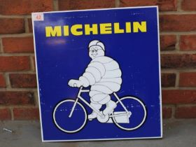 Michelin Cycle Tyres Tin Double Sided Flanged Sign