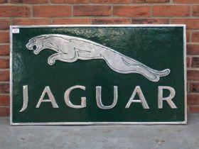 Cast Aluminium Jaguar Display Sign