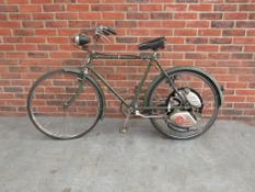 Cyclemaster Motor Fitted to a Gents Phillips Cycle