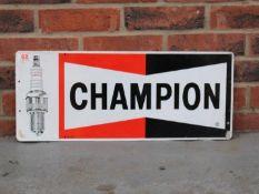 Original Aluminium Champion Spark Plug Sign