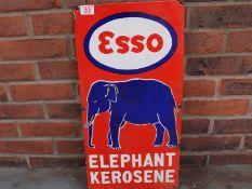 Esso Elephant Kerosene Enamel Sign