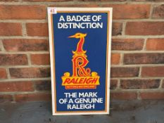 Raleigh Aluminium Single Sided Bicycle Sign