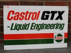Castrol GTX Liquid Engineering Aluminium Sign