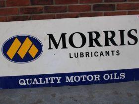 Morris Lubricants Quality Motor Oil Plastic Sign