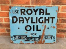 Royal Daylight Oil Vintage Enamel Sign