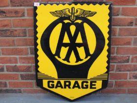 AA Enamel Single Sided Garage Sign