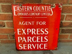 Eastern Counties Double Sided Express Parcels Service Enamel Sign