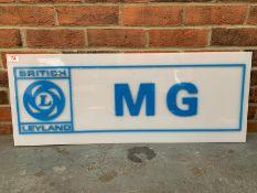 British Leyland MG Perspex Dealership Sign