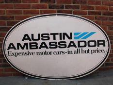 Original Austin Ambassador Advertising Sign On Card