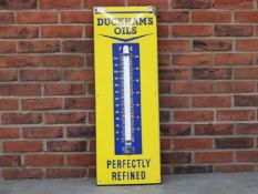 Duckhams Oils Enamel Thermometer Sign