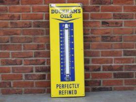 Duckhams Oils Enamel Thermometer Sign