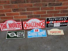 Six Classic Car Rally Plaques