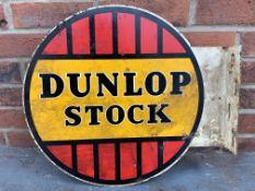 Original Dunlop Stock Metal Flanged Circular Sign