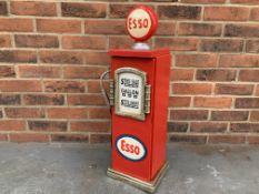 Miniature Wooden Esso Pump