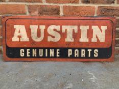 Aluminium Austin Genuine Parts Sign