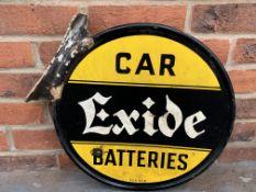 "Original Aluminium Flanged Circular Car Exide Batteries"" Sign"""