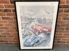 Framed Geo Ham Racing Print