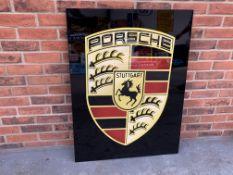 Modern Porsche Sign On Board