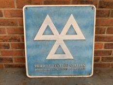 Aluminium Vehicle Testing Station Sign