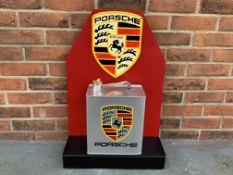 Modern Porsche Petrol Can Display Stand