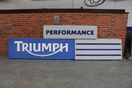 Large Triumph Illuminated Dealership Sign & Performance Sign & One Other