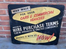 Hire Purchase Terms Display Board