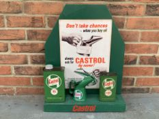 Modern Castrol Oil Can Display Stand