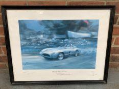 Framed Mercedes-Benz Winners 1955 Mille Miglia Print