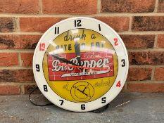 Classic Dr Pepper Circular Convex Wall Clock