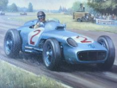Print Of 1955 Argentine Grand Prix By Mike Jeffries