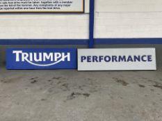 Large Triumph Illuminated Dealership Sign & Performance Sign