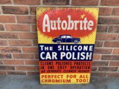 Aluminium Autobrite Car Polish Sign