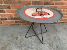 Modern Metal Framed Fiat 500 Circular Table