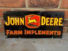 John Deere Farm Implements Enamel Sign