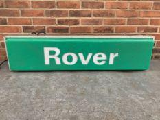 Rover Illuminated Dealership Sign