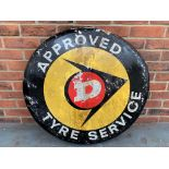 Original Dunlop Approved Tyre Service Aluminium Sign
