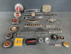 Box Of Assorted Car Badges