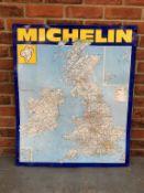 Tin Michelin Map Sign